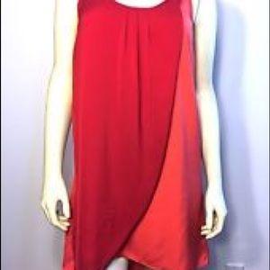 Silence + Noise Red Orange Tunic Tank Dress